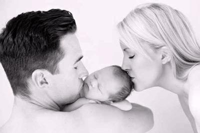 Karis, husband and baby