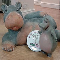 The Wise Hippo Birthing Progamme hippos and badge